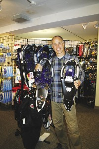 photo of Jim Misiewicz and snow shoes