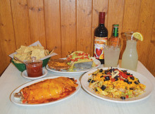photo of Mexican entrees at Mario's Pizzeria