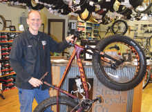 photo of Richard Gordon and a fat-tire bike
