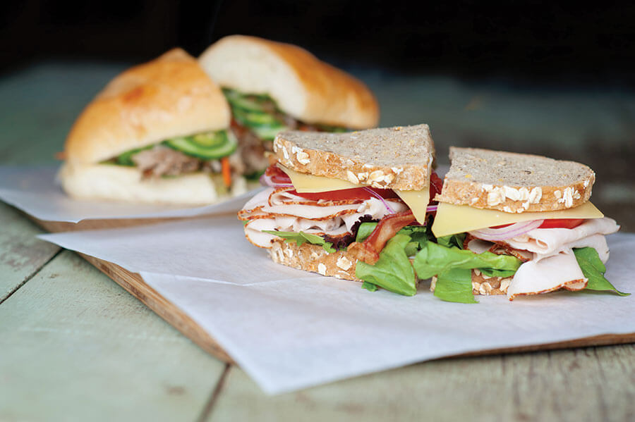 Turkey Club artisan sandwich