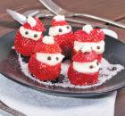 Cheesecake-Stuffed Strawberry Santas