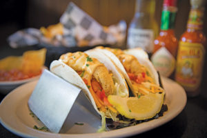 Perch Tacos, Beechwood Grill