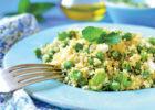 Quinoa Salad with Peas, Mint and Feta