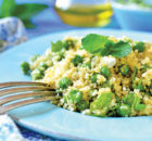 Quinoa Salad with Peas, Mint and Feta