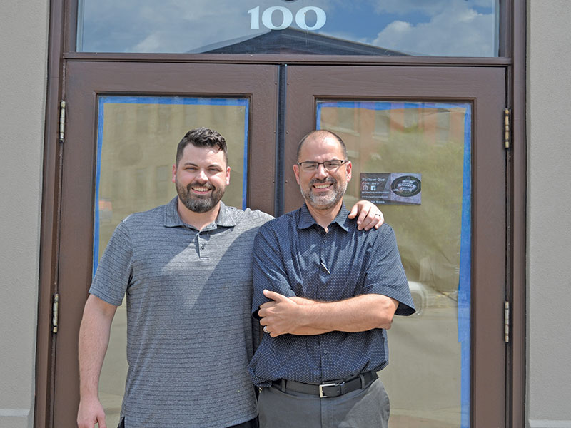 Owner Mike Thorp (left) and general manager Lee Bigby Photo: Urban St. magazine/Kelsey Smith
