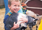 boy with goat at Critter Barn