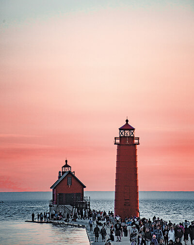 Grand Haven lighthouses