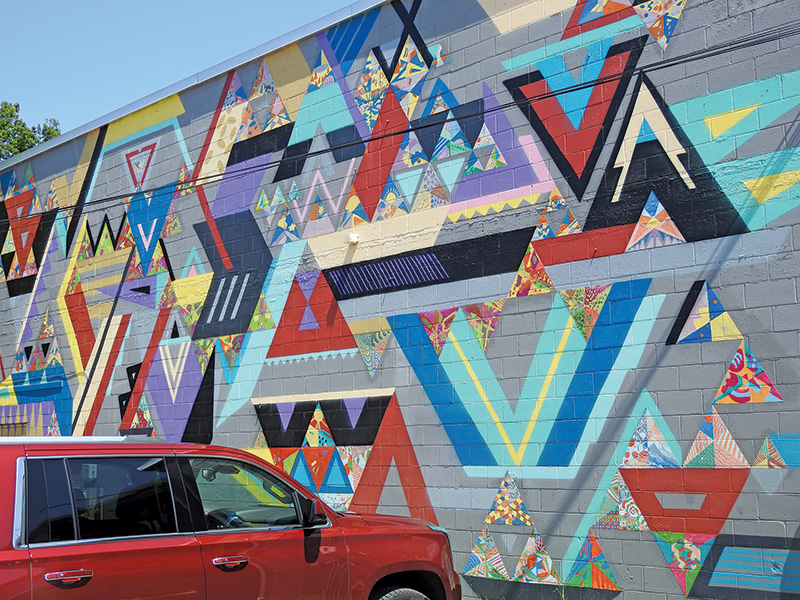 Saugatuck Center for the Arts mural