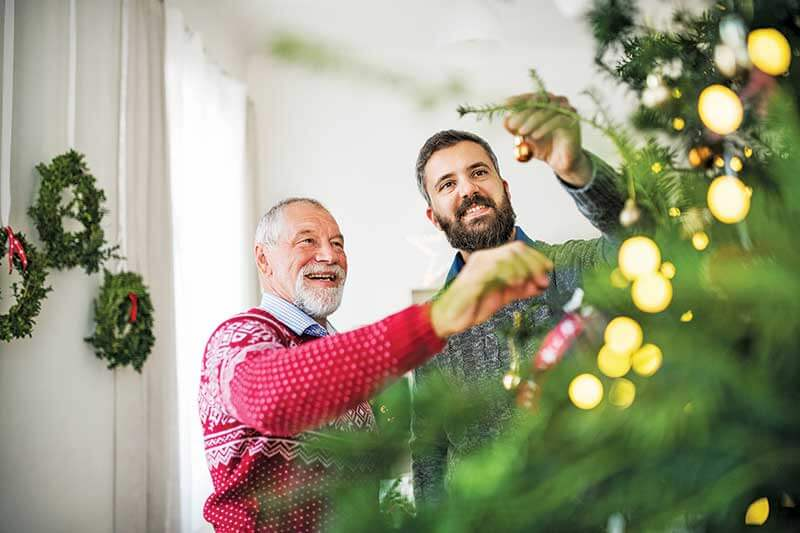 Help an elderly relative, friend or neighbor decorate for the holidays