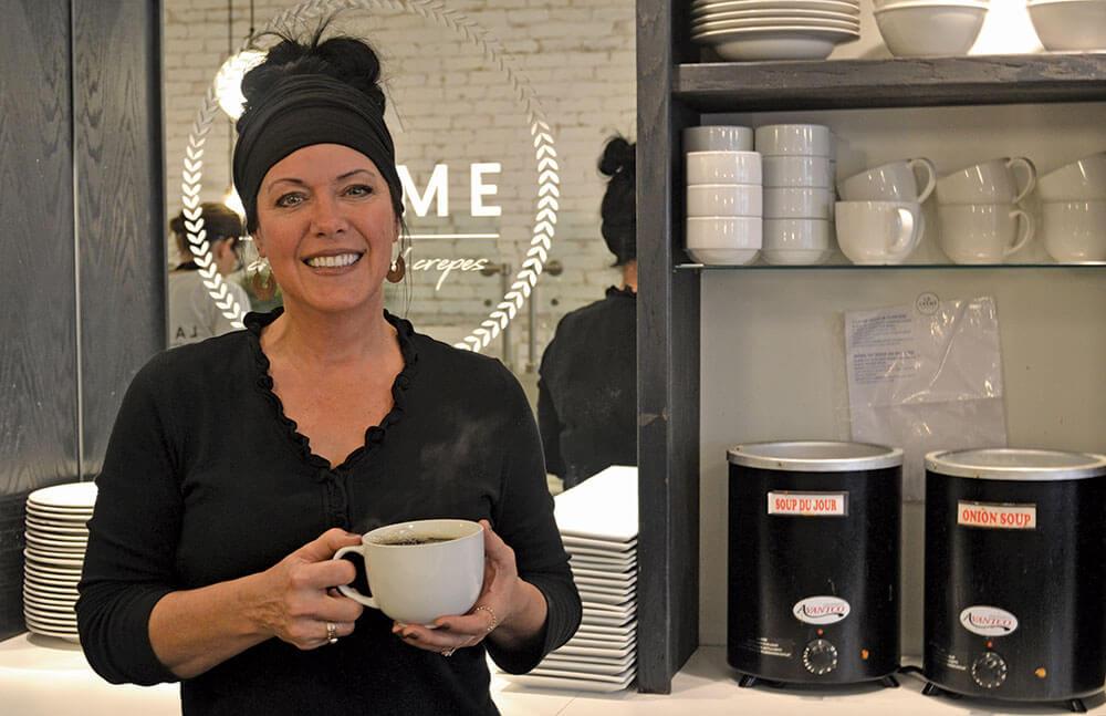 Kim De Young, owner of La Crème