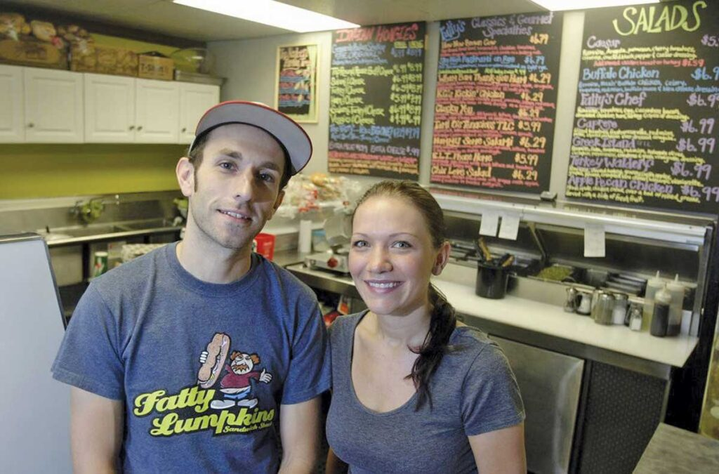 Brett and Jera Gilbert, owners of Fatty Lumpkins Sandwich Shack