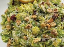 Raw Shaved Brussels Sprouts Salad