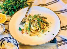 """Tagliatelle with Asparagus """"Carbonara"""""""