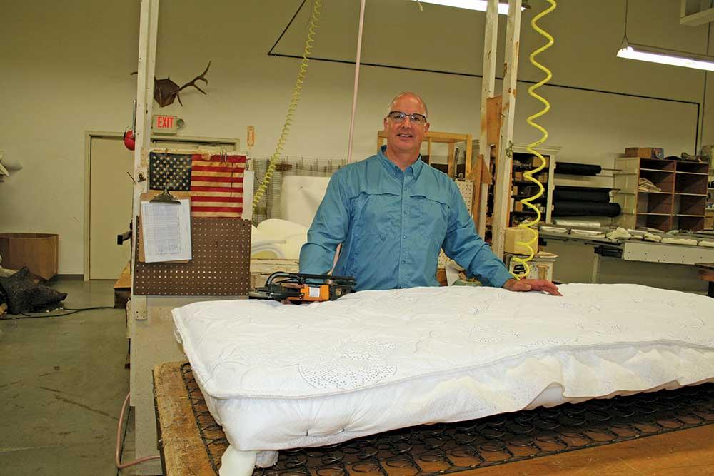 Marc Dozeman, owner of Buis Mattress